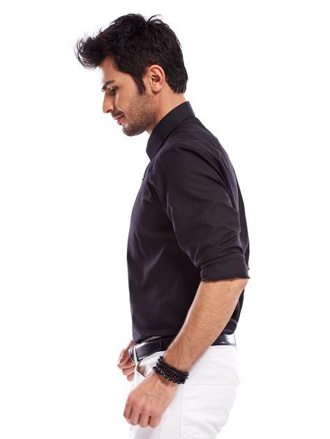 Koszula męska czarna regular fit                              zdj.                              5