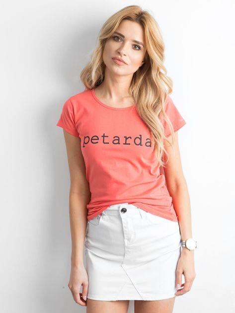 Koszulka z napisem pomarańczowa                              zdj.                              1