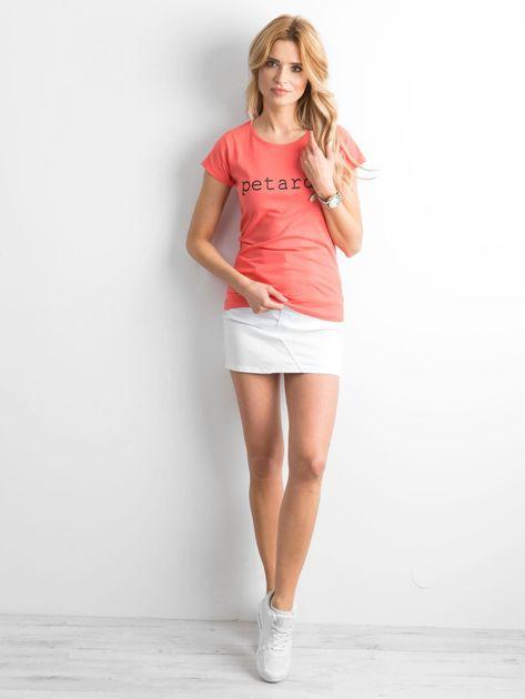 Koszulka z napisem pomarańczowa                              zdj.                              4