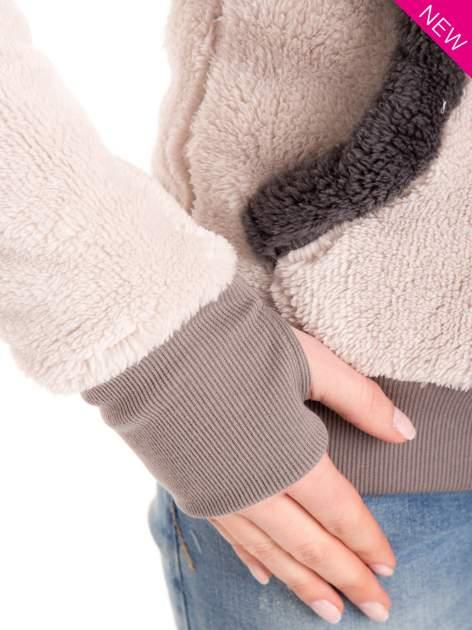 Kremowa polarowa bluza miś z kapturem z uszkami                                  zdj.                                  7