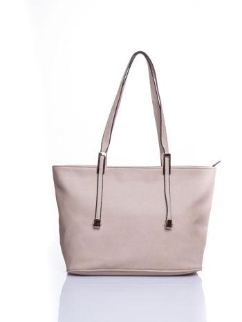 Kremowa prosta torba shopper bag                                  zdj.                                  1