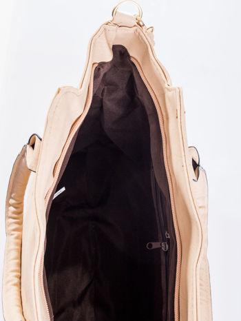 Kremowa torba shopper bag                                  zdj.                                  10