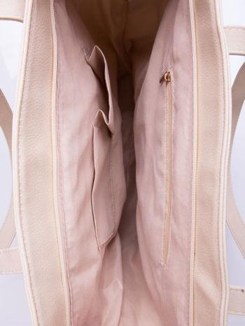 Kremowa torba ze złotym detalem                                  zdj.                                  5