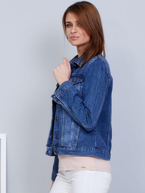 Krótka kurtka jeansowa niebieska                               zdj.                              3