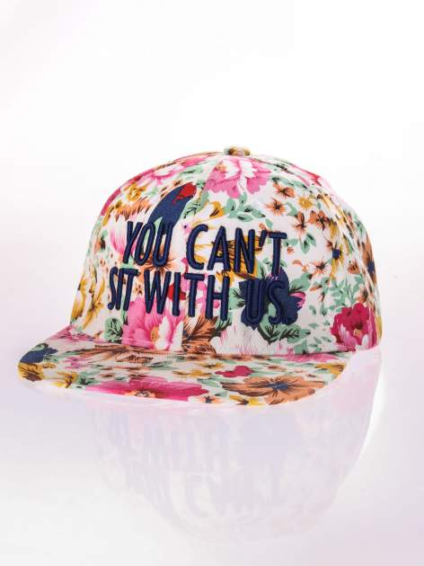 Kwiatowa czapka z daszkiem YOU CAN'T SIT WITH US snapback                                  zdj.                                  2
