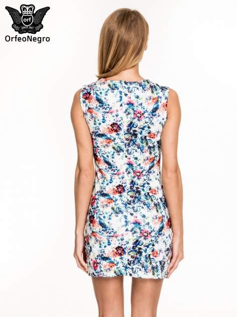 Kwiatowa prosta mini sukienka                                  zdj.                                  4