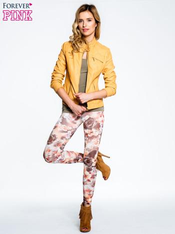 Kwiatowe elastyczne legginsy                                  zdj.                                  2