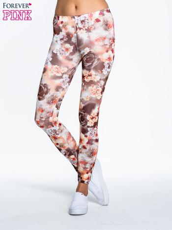 Kwiatowe elastyczne legginsy                                  zdj.                                  1