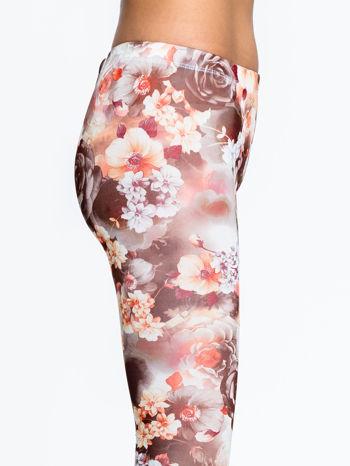 Kwiatowe elastyczne legginsy                                  zdj.                                  6