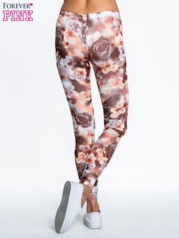 Kwiatowe elastyczne legginsy                                  zdj.                                  4