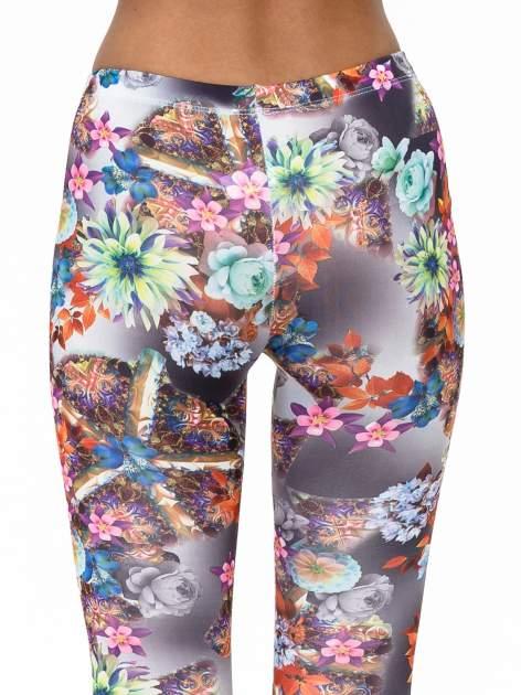Kwiatowe legginsy z nadrukami                                   zdj.                                  6