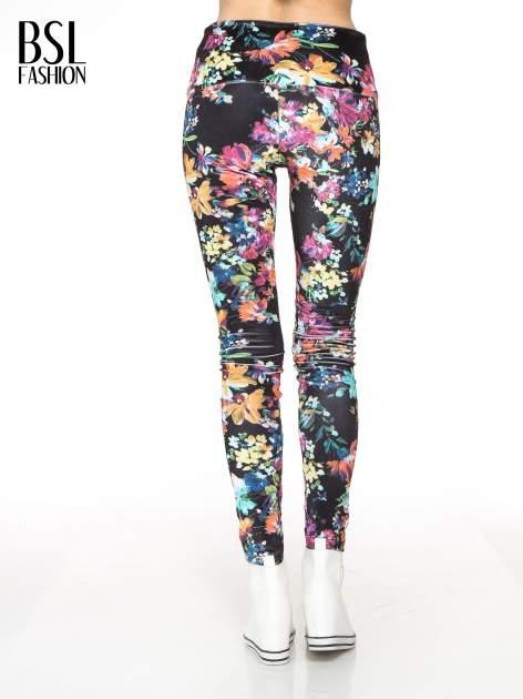 Kwiatowe legginsy z wysokim stanem                                  zdj.                                  4