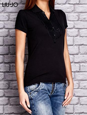 LIU JO Czarna koszula z koralikową aplikacją                                  zdj.                                  2