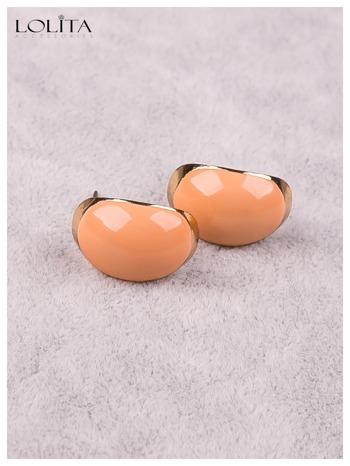 LOLITA Kolczyki złoto-brzoskwiniowe delikatne ładne