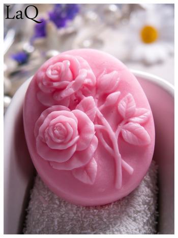 LaQ Mydełko Dwie róże - różowy / Zapach - truskawka BEZ SLS i SLES                                  zdj.                                  2