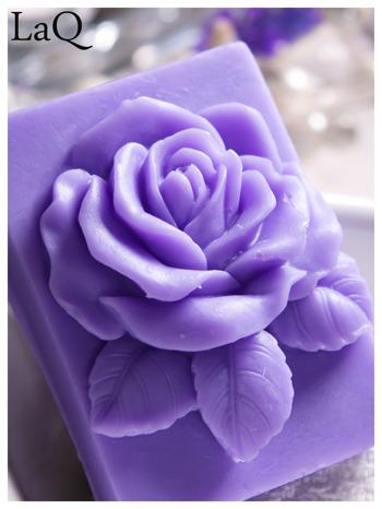 LaQ Mydełko Róża w prostokącie - fioletowy / Zapach - lawenda BEZ SLS i SLES                                  zdj.                                  1