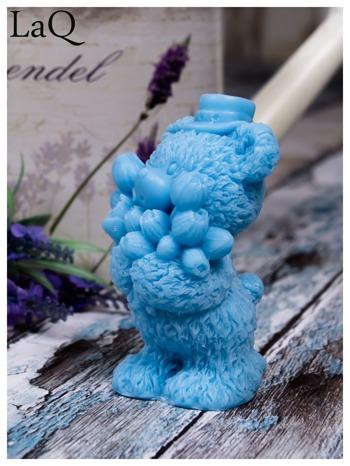 LaQ Mydełko duże Miś z bukietem - niebieski / Zapach - wata cukrowa BEZ SLS i SLES                                  zdj.                                  5