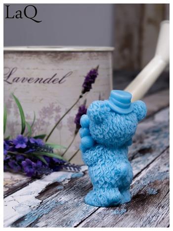 LaQ Mydełko duże Miś z bukietem - niebieski / Zapach - wata cukrowa BEZ SLS i SLES                                  zdj.                                  3