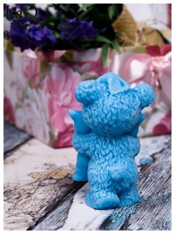 LaQ Mydełko duże Miś z poduszką - niebieski / Zapach - wata cukrowa BEZ SLS i SLES                                  zdj.                                  2