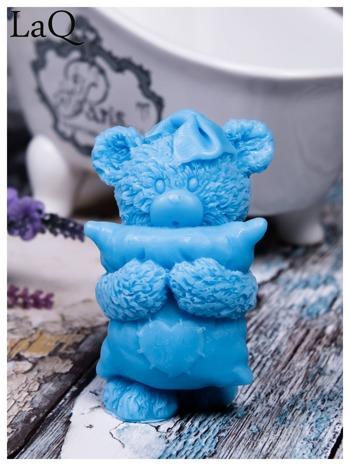 LaQ Mydełko duże Miś z poduszką - niebieski / Zapach - wata cukrowa BEZ SLS i SLES                                  zdj.                                  1