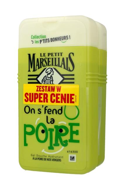 "Le Petit Marseillais Żel pod prysznic Gruszka DUO  250mlx2"""