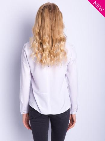 Liliowa koszula z przeszyciami i łezką z tyłu                                  zdj.                                  5