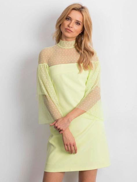 Limonkowa sukienka Modern