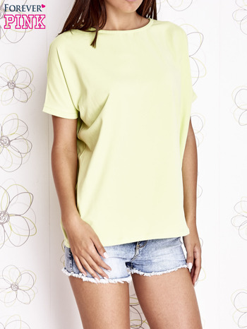 Limonkowy t-shirt oversize