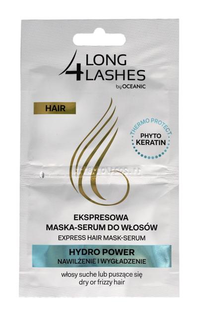 Long 4 Lashes Ekspresowa Maska-Serum do włosów Hydro Power nawilżenie + wygładzenie  6 ml x 2