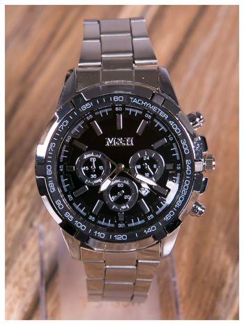 M&H -Klasyka i elegancja srebrny męski zegarek na bransolecie                                   zdj.                                  3