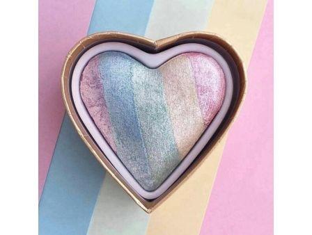 MAKEUP REVOLUTION Rozświetlacz wypiekany Unicorns Heart Baked Highlighter 10g                              zdj.                              6