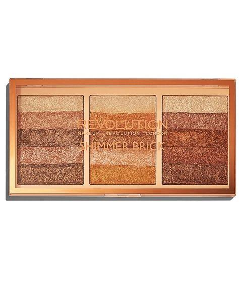 MAKEUP REVOLUTION Shimmer Brick Palette Paleta rozświetlaczy