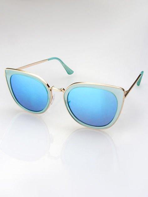 MANNINA Okulary przeciwsłoneczne lustrzanki + miękkie etui gratis                              zdj.                              2