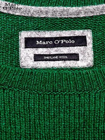 MARC O'POLO Zielony dzianinowy sweter męski                                  zdj.                                  4