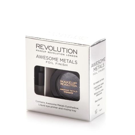 """Makeup Revolution Awesome Metals Foil Finish Cień do powiek metaliczny+podkład Black Diamond  6g"""""""