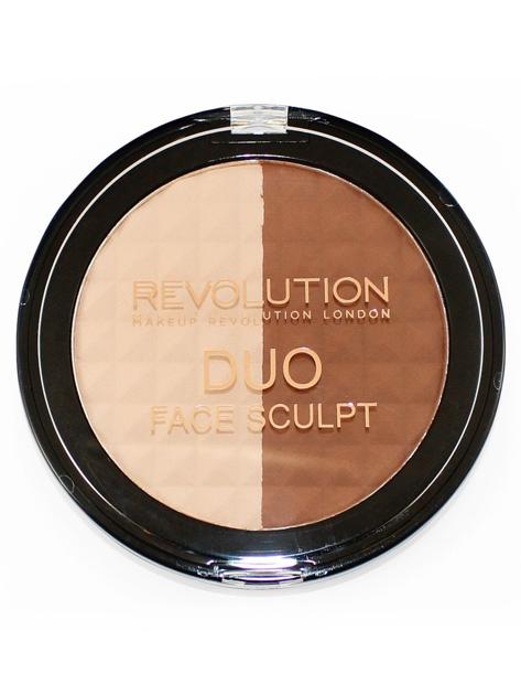 Makeup Revolution Duo Face Sculpt Duet puder plus bronzer 15g