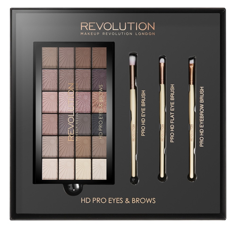 """Makeup Revolution HD Pro Eyes & Brows Zestaw do makijażu oczu i brwi   1op."""""""
