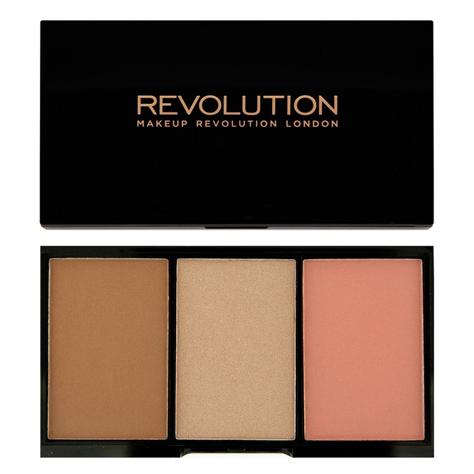 "Makeup Revolution Iconic Blush Bronze & Brighten Zestaw do konturowania Golden Hot  11g"""