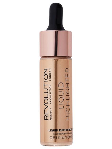 Makeup Revolution Liquid Highlighter Rozświetlacz w płynie Euphoric Gold 18 ml