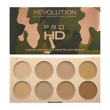 Makeup Revolution Pro HD Camouflage Palette Zestaw korektorów Light 10 g