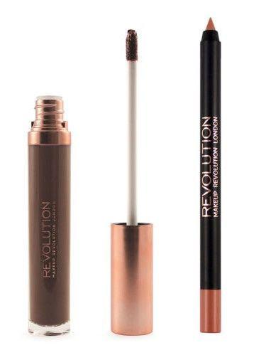 Makeup Revolution Retro Luxe Matte Lip Kit Zestaw do ust konturówka 1g + matowa pomadka w płynie 5,5ml Glory                              zdj.                              4
