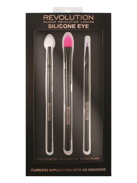 Makeup Revolution Silicone Eye Set Zestaw Pędzli silikonowych do makijażu oczu 3 szt.