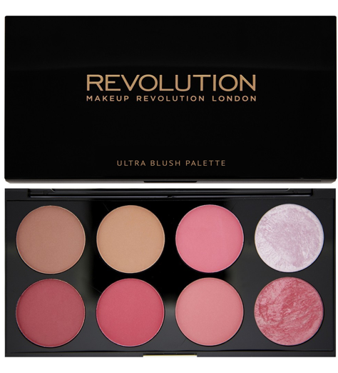 Makeup Revolution Ultra Blush Palette Paleta róży do policzków Sugar and Spice 13 g