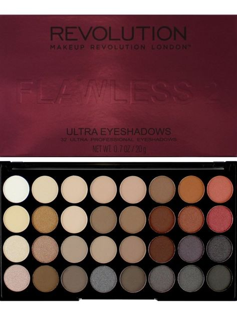 Makeup Revolution Ultra Palette Paleta 32 cieni Flawless 2 16g