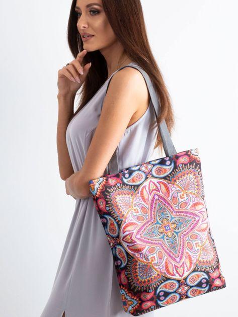 Materiałowa torba w orientalne wzory                              zdj.                              1