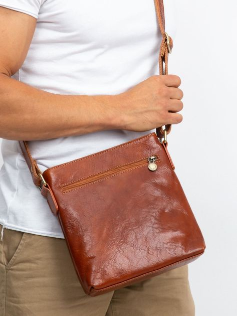 Męska torba skórzana camelowa                              zdj.                              3