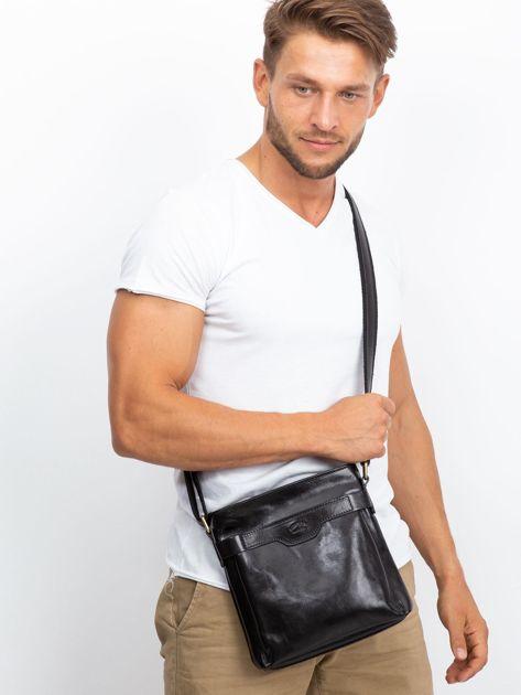 Męska torba skórzana czarna                              zdj.                              6