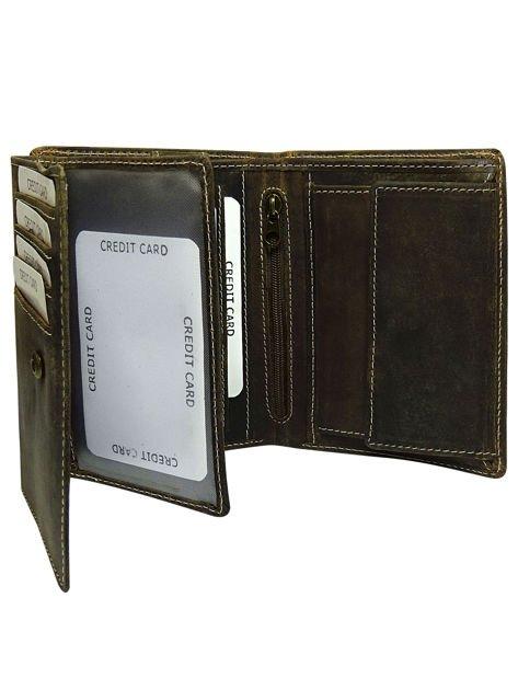 Męski brązowy portfel otwarty                              zdj.                              2