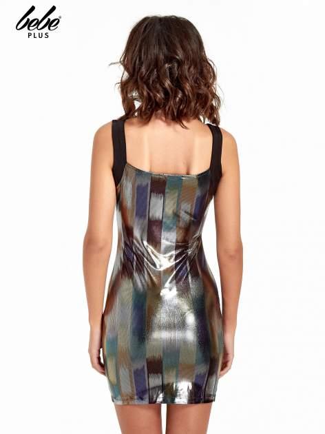 Metaliczna sukienka z wycięciem cut out z przodu                                  zdj.                                  2