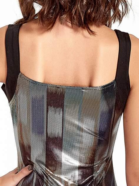 Metaliczna sukienka z wycięciem cut out z przodu                                  zdj.                                  6